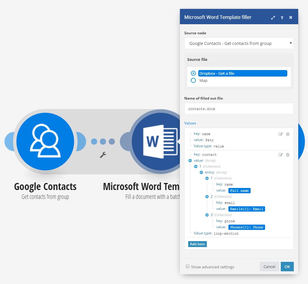 Microsoft Word Templates – Contacts Template Word
