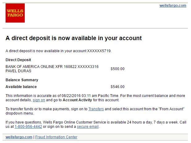 Account now direct deposit time whereis online.com.au