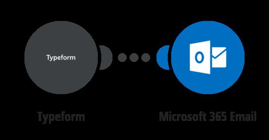 Zaslání emailu přes Office 365 Poštu o nové odpovědi v Typeform