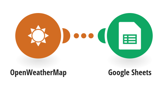 Add rows to a Google Sheets spreadsheet with OpenWeatherMap forecast