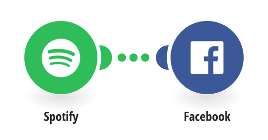 Post your new Spotify saved tracks to Facebook
