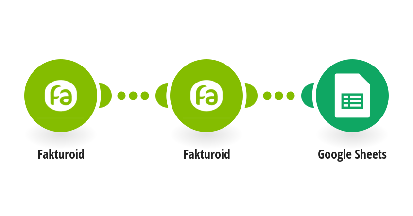 Přidání nové faktury z Fakturoid do Google tabulky