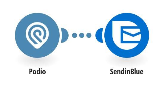 Send email templates via SendinBlue for new Podio items