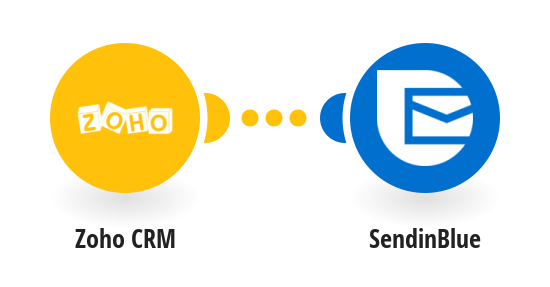 Add new Zoho CRM contacts as new contacts in SendinBlue