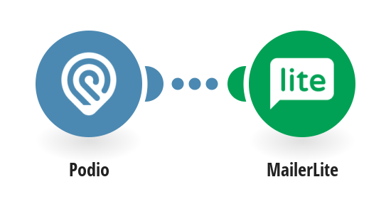Create Mailerlite groups from new Podio apps