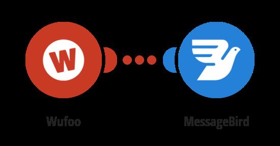 Zaslání SMS zprávy přes MessageBird o novém záznamu ve Wufoo