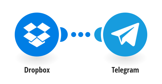 Send Telegram messages for new Dropbox files
