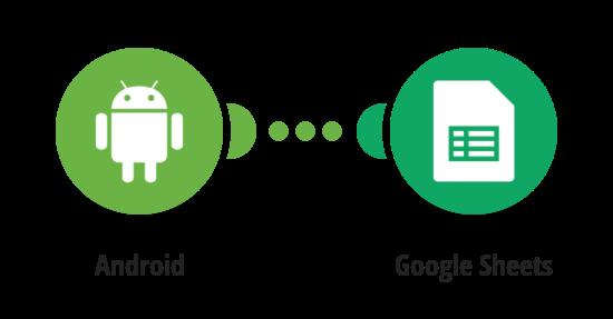 Zapsání změny polohy Android zařízení do Google tabulky