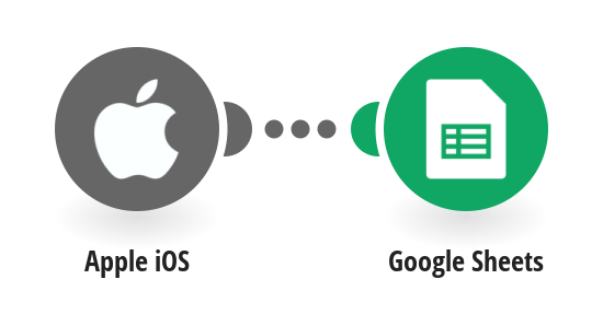 Create a record in a Google Sheets spreadsheet when an Apple iOS device enters/exits a defined area