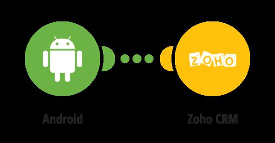 Zaznamenání příchozího hovoru na sledovaném Android zařízení do Zoho CRM