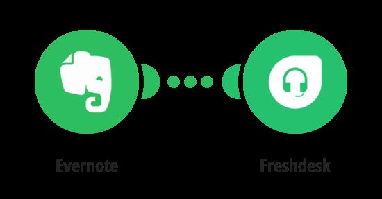 Vytvoření poznámky ve Freshdesku z nové poznámky v Evernote