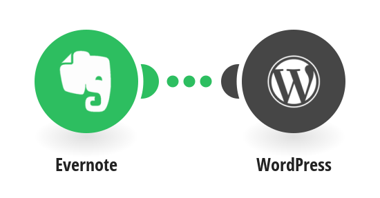 Create WordPress posts from new Evernote notes