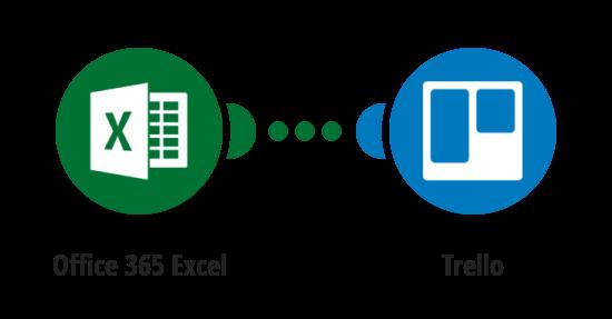 Vytvoření karty v Trellu z nového řádku v Excel tabulce