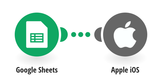 Create contacts on your iOS device from new rows in a Google Sheets spreadsheet