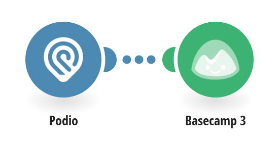 Add new Podio tasks to Basecamp 3 as projects