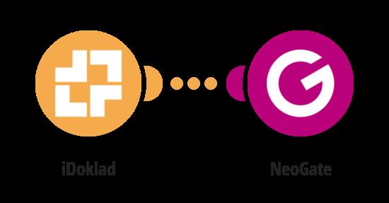 Zaslání SMS zprávy přes NeoGate o nové faktuře v iDokladu
