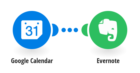 Create Evernote notes from new Google Calendar events
