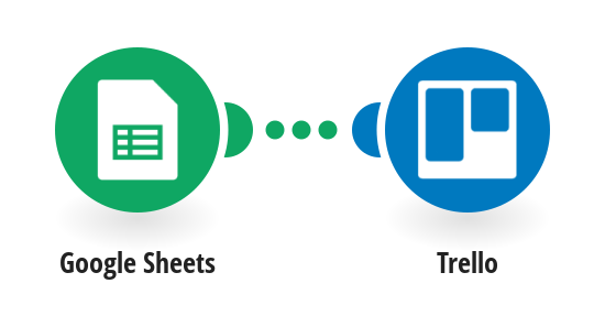 Create Trello cards from new Google Sheets spreadsheet rows