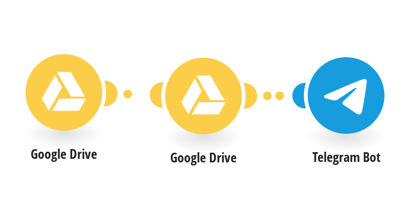 Save new files from Google Drive to Telegram channel