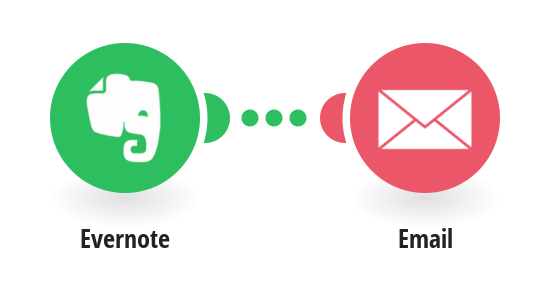 Create an email draft from Evernote notes.