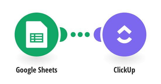 Create ClickUp tasks from new Google Sheets spreadsheet rows