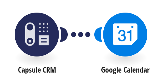 Add new Capsule CRM tasks to Google Caledar as events