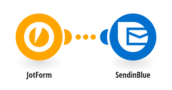 Create or update a contact on SendinBlue with data from a JotForm submission.