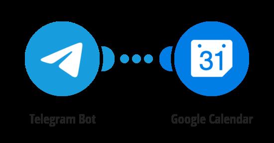Create Google Calendar events from new Telegram messages