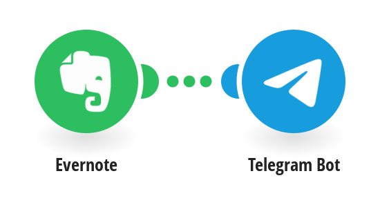 Post new Evernote notes to Telegram