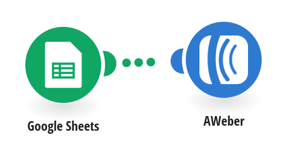 Create AWeber subscribers from new Google Sheets rows
