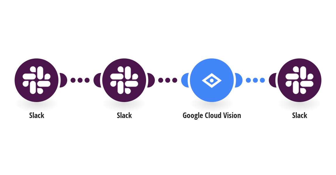 Detect text within new Slack images using Google Cloud Vision (OCR) and send it as a new message in Slack