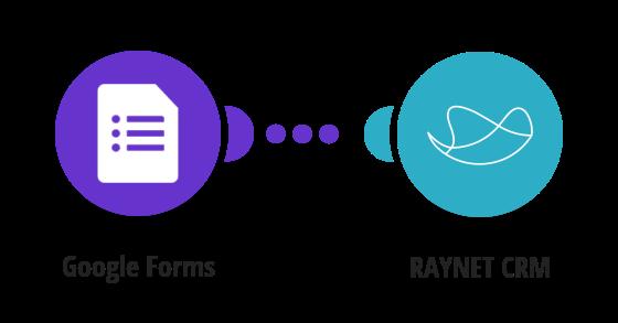 Založení leadu v RAYNET CRM z nově vyplněného formuláře Google Forms