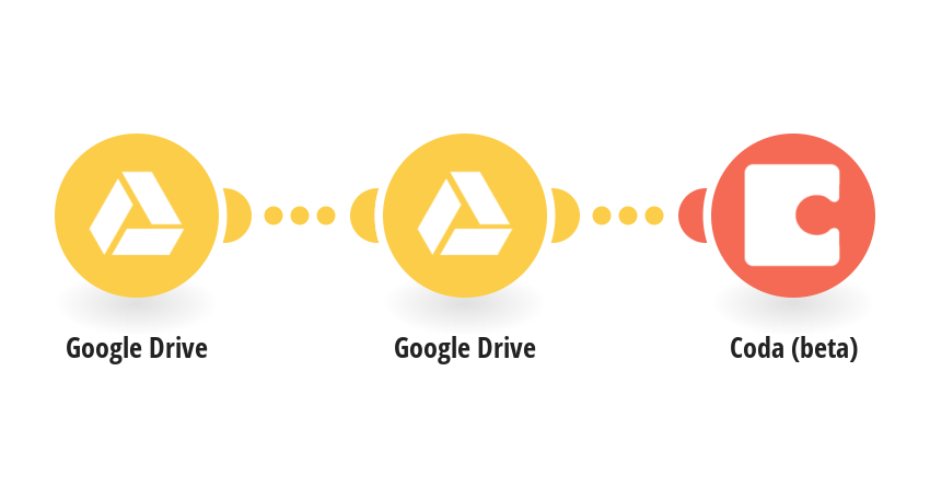 Add info about new Google Drive files to a table in a Coda doc