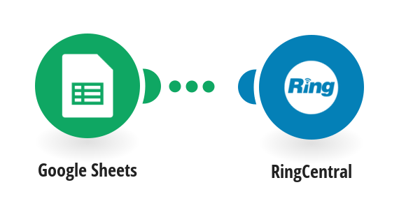 Send RingCentral SMS messages for new Google Sheets rows