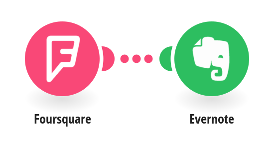 Create Evernote notes from new Foursquare checkins