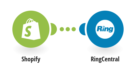 Send RingCentral SMS messages for new Shopify orders