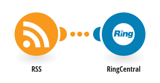 Receive RingCentral SMS messages for new RSS feed items