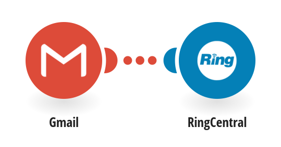 Receive RingCentral SMS messages for new Gmail messages matching specified criteria