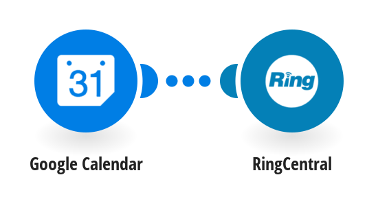 Receive RingCentral SMS messages for new Google Calendar events