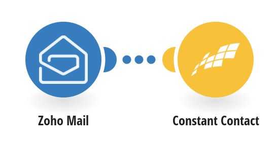 Add Constant Contact contacts from new Zoho Mail emails