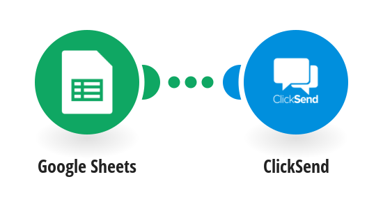 Send ClickSend SMS messages for new Google Sheets rows
