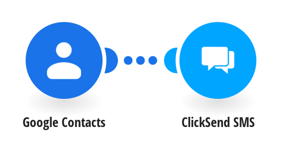 Add new Google Contacts to ClickSend