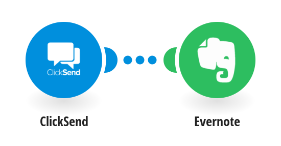 Add new incoming ClickSend messages to Evernote as notes