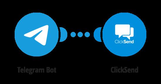 Send ClickSend SMS messages for new Telegram messages