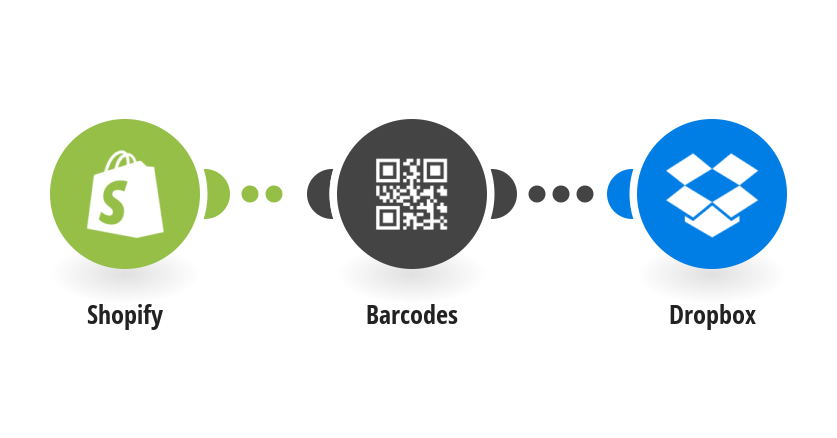 Generate barcodes for new Shopify products and save them to Dropbox