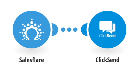Get a ClickSend SMS message when Salesflare opportunities reach a certain stage