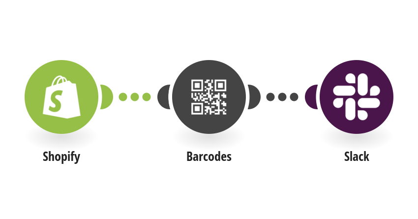 Generate barcodes for new Shopify products and post them as a file to Slack
