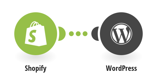 Create a new post in WordPress with information about a new product in Shopify