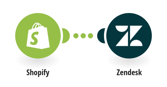 Save new customer in Shopify as new end user in Zendesk