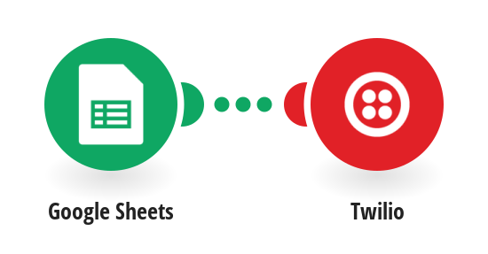 Send a Twilio SMS message to all recipients listed in a Google Sheets spreadsheet.